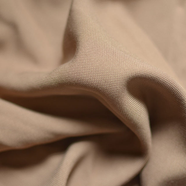 Remnant - Taupe – Viscose Pique – 1.45 yards