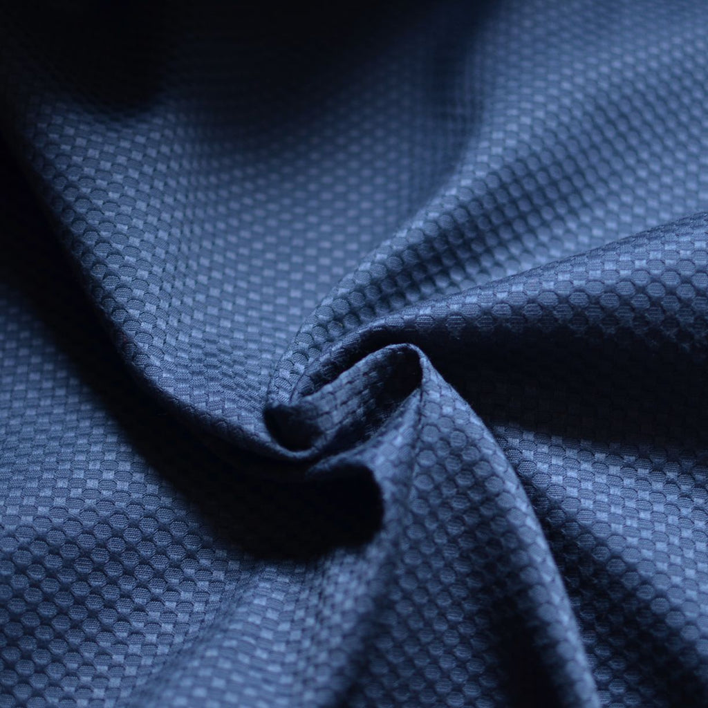 Remnant - Navy – Checkered Stretch Cotton – .75 yard