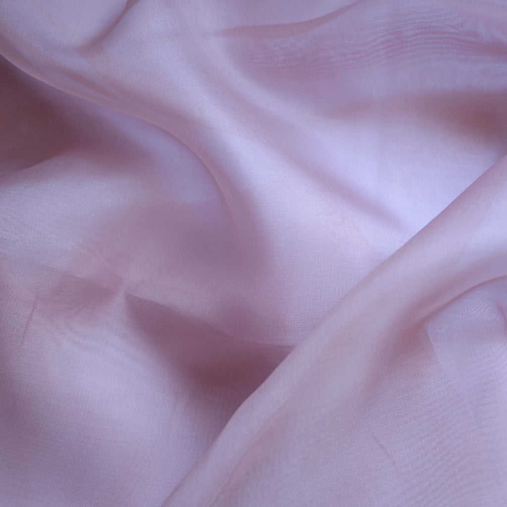 Dusty Mauve Silk Organza – 1/2 yard