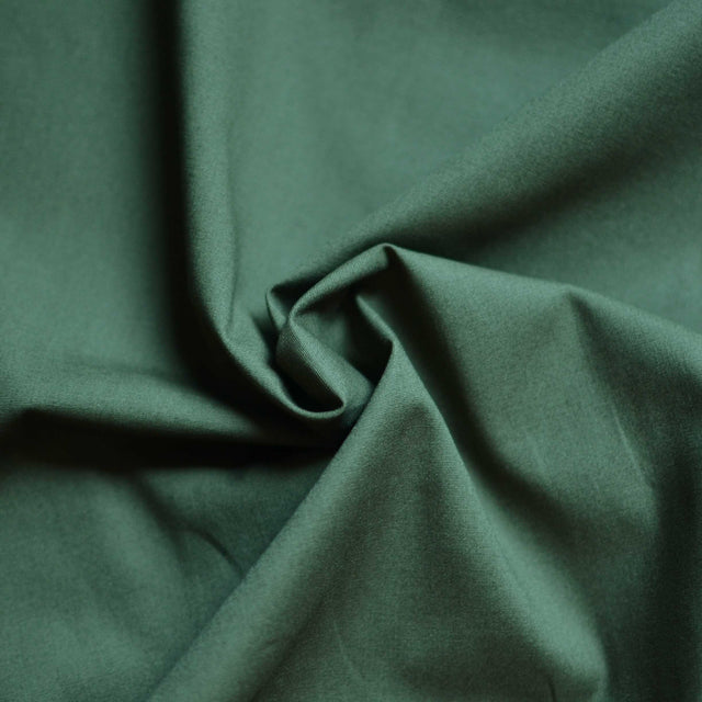 Olive - Peltier Organic Cotton Stretch Poplin – 1/2 yard