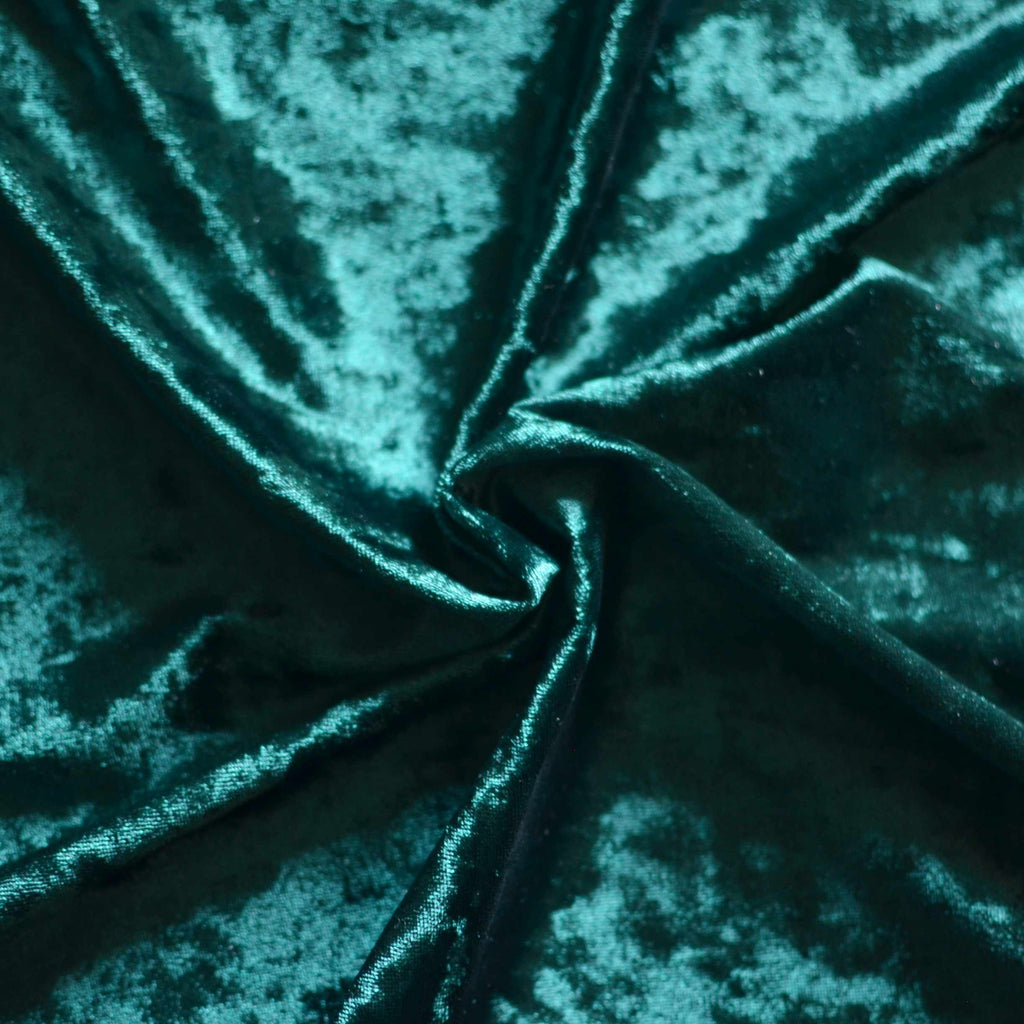 Deep Jade – Crushed Stretch Velvet – 1/2 yard