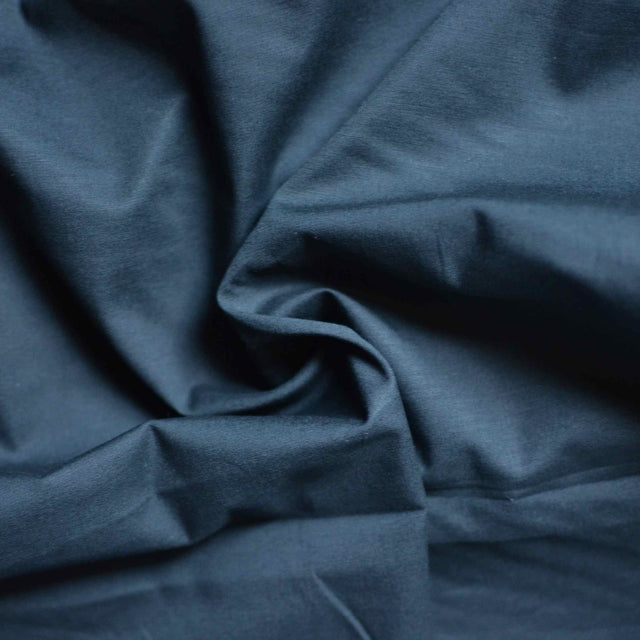 Black - Organic Cotton Stretch Poplin – 1/2 yard