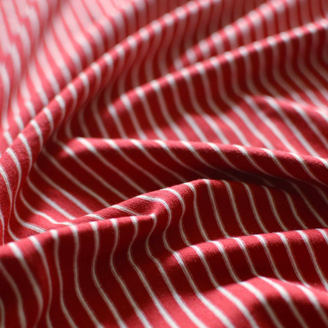 Candy Cane – Made in USA Rayon Jersey – 1/2 yard