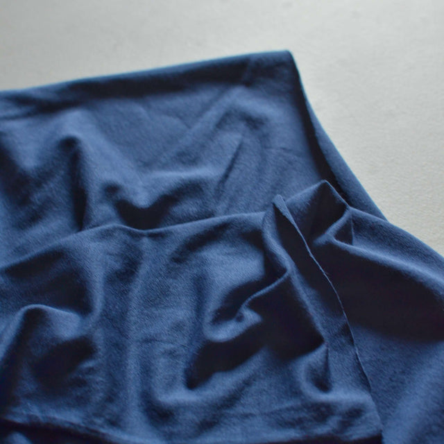 Soft Navy – Made in USA Rayon Jersey – 1/2 yard