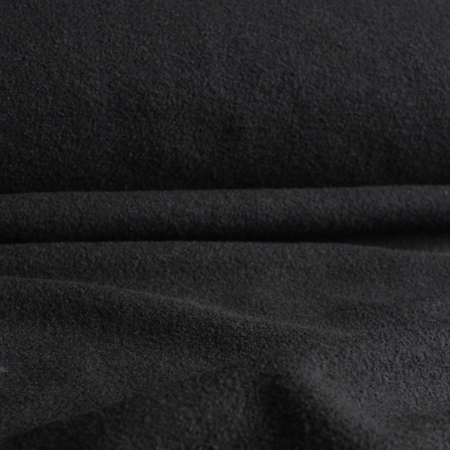 Black – 100% Boiled Wool Coating – 1/2 yard