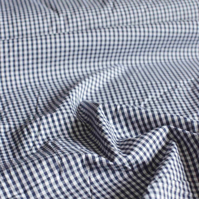 Navy Cotton Gingham – 1/2 yard