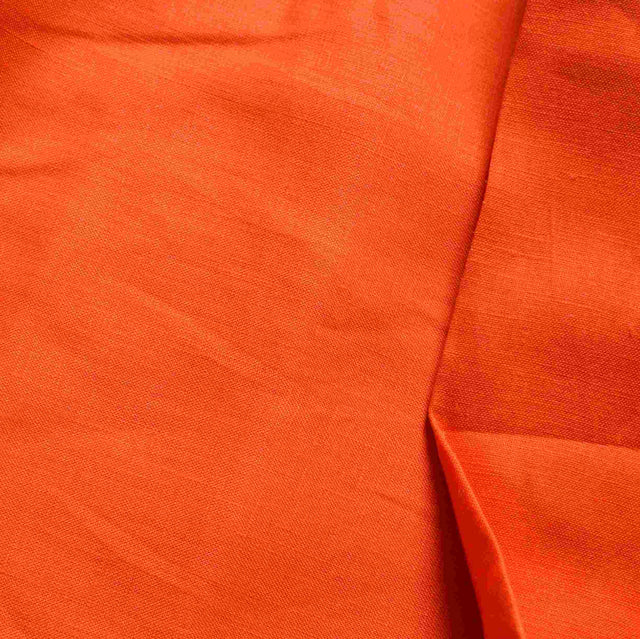 Bright Orange Linen – 1/2 yard