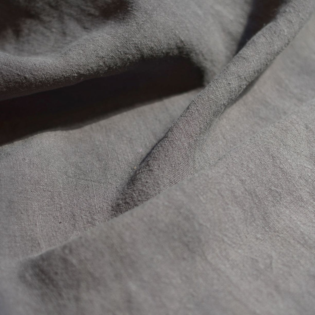 Remnant - Charcoal – Alexandria Lightweight Washed Linen – .85 yard