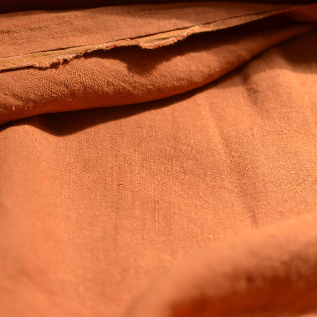 Remnant - Burnt Apricot – Alexandria Lightweight Washed Linen – .75