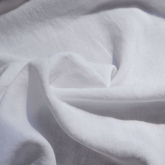 White – Alexandria Lightweight Washed Linen – 1/2 yard