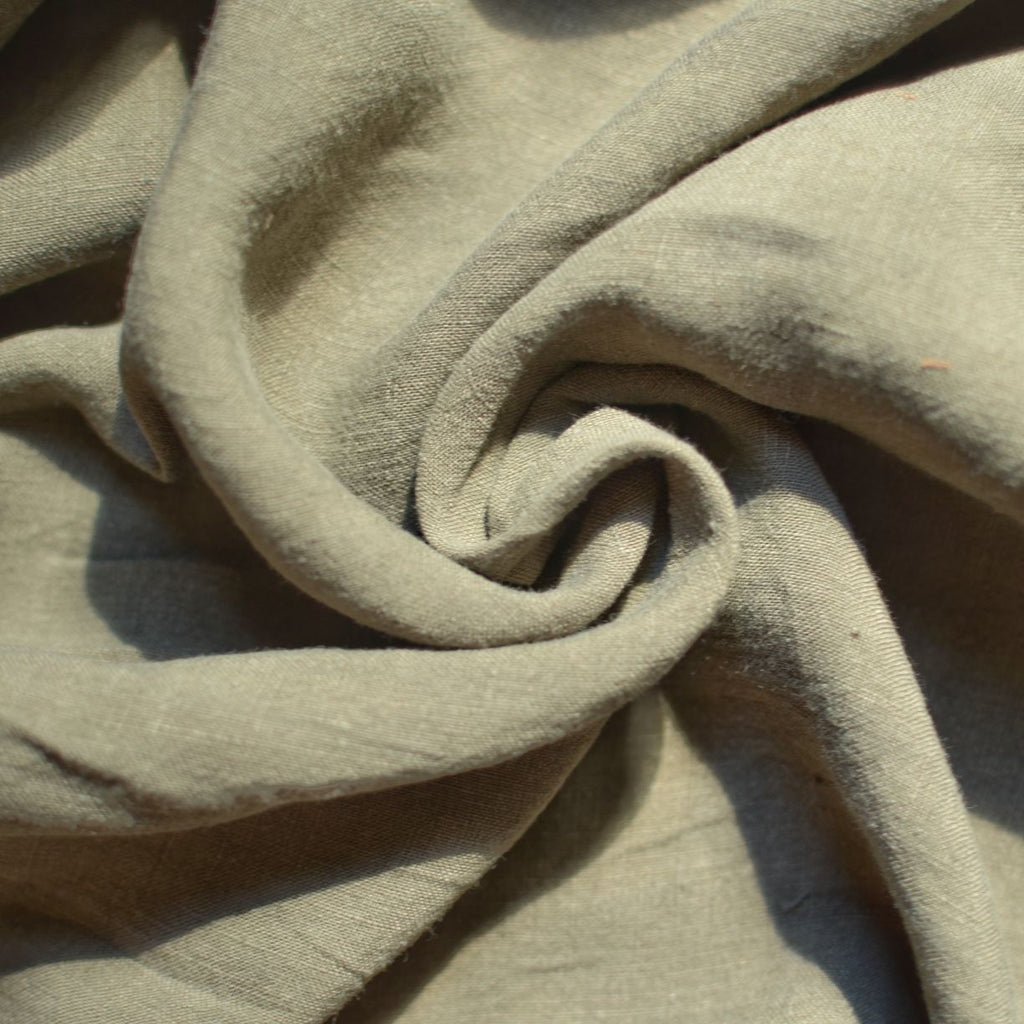 Khaki – Alexandria Lightweight Washed Linen – 1/2 yard