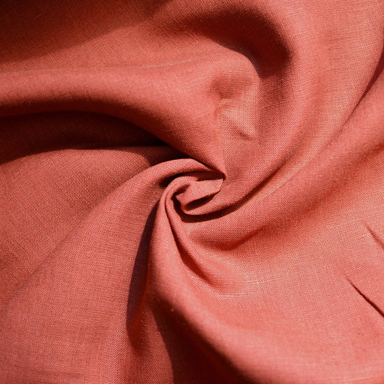 27cef0b0193d45 Red Clay– Kayah Midweight Linen – 1/2 yard – Matchpoint Fabric