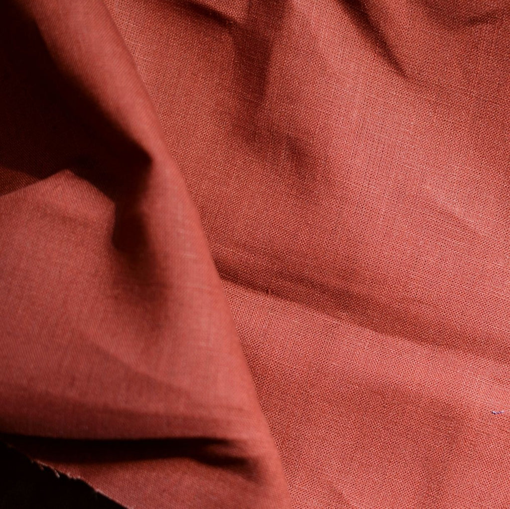 Red Clay– Kayah Midweight Linen – 1/2 yard