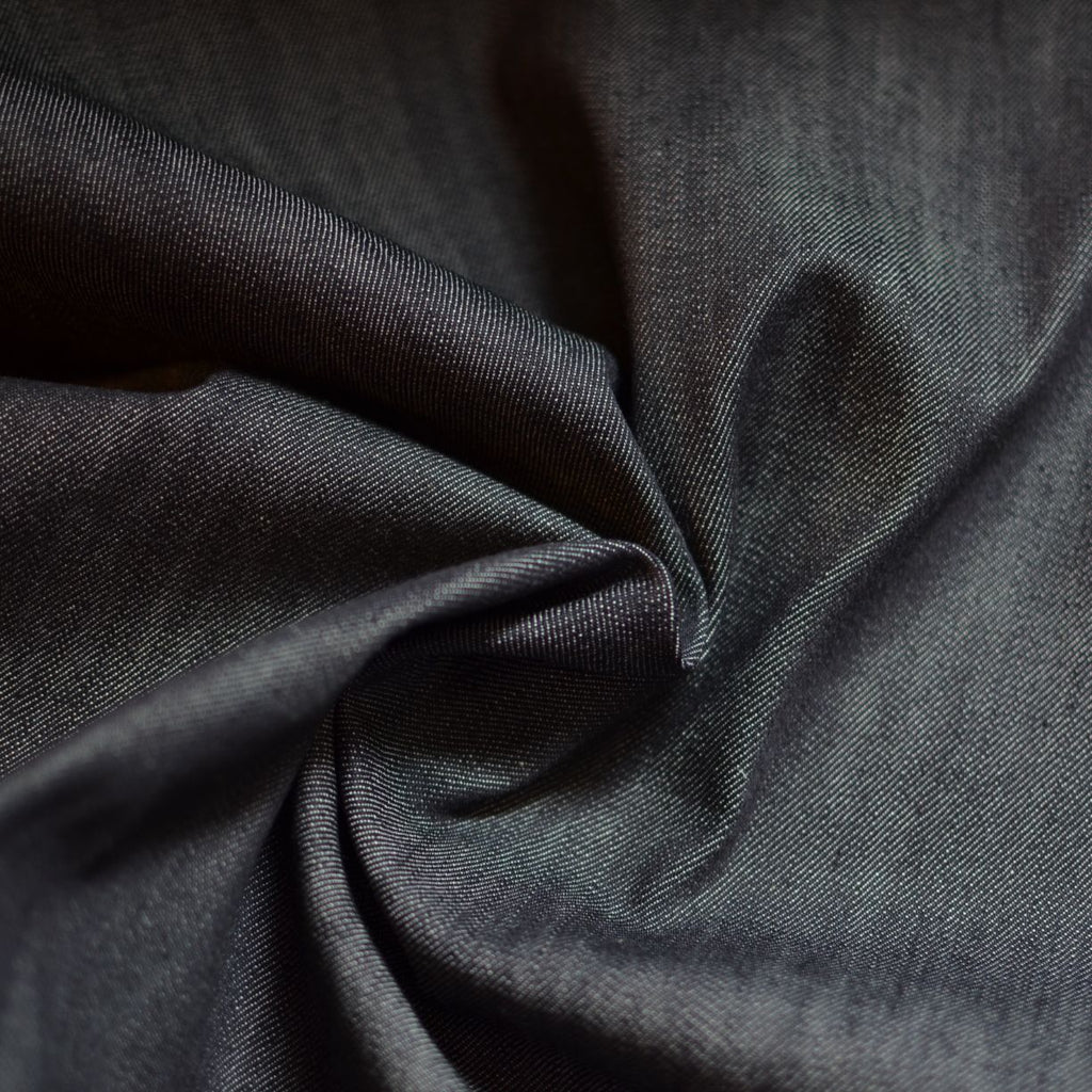 Remnant - Blackened Indigo – 100% Cotton Denim – .45 yards