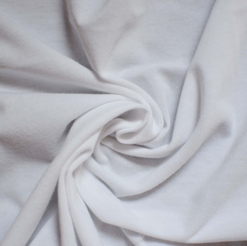 Remnant – White - Celine 100% Organic Cotton/Spandex Jersey - 0.8 yard