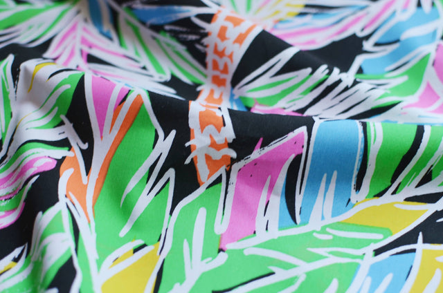 Neon Palm Tree Poplin – 1/2 yard