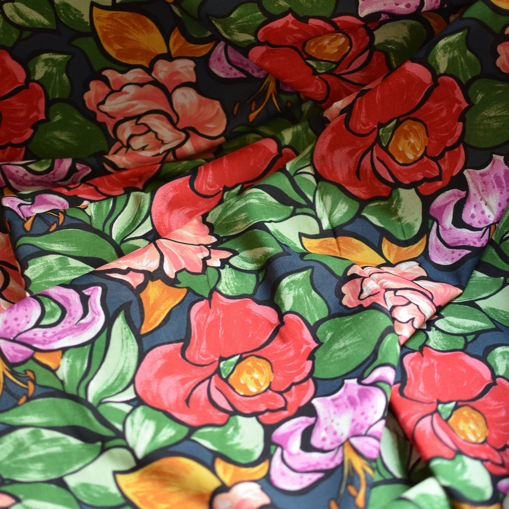 Zara Large Scale Floral Cotton Voile – 1/2 yard