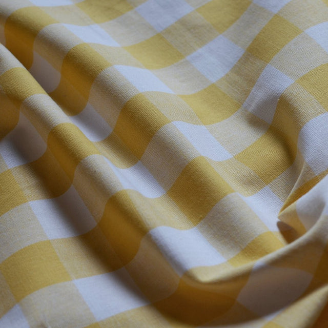 Mustard – Cotton Gingham – 1/2 yard
