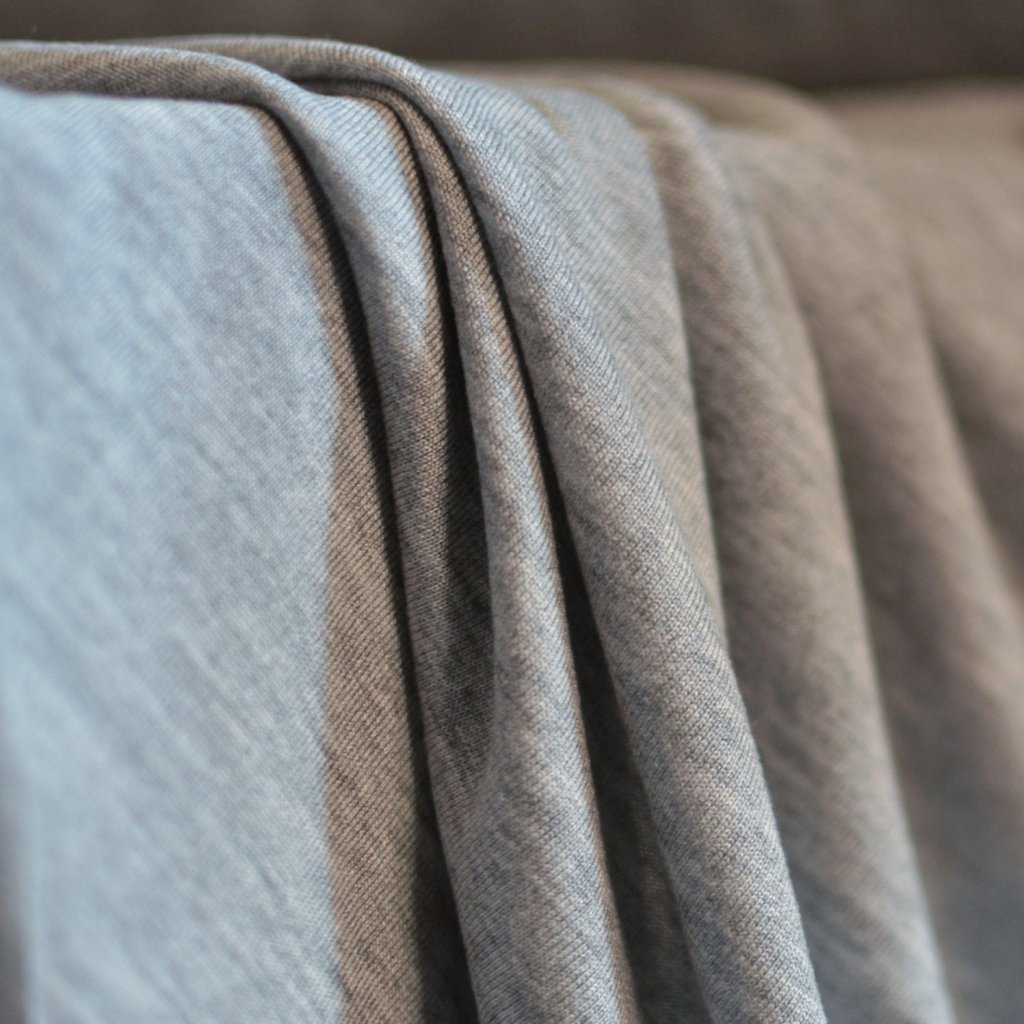 Stevie Tencel Jersey – Grey Mélange – 1/2 yard