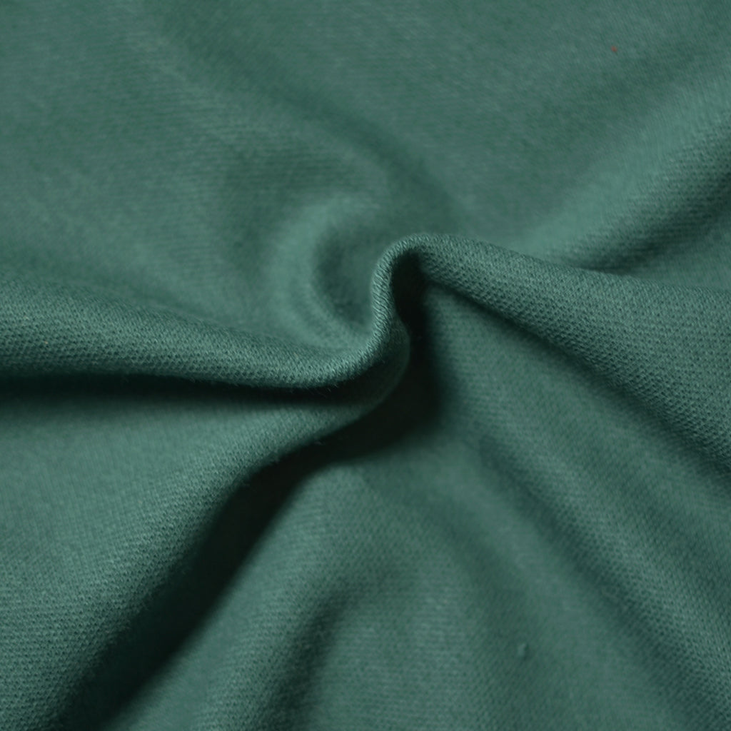 Remnant - Forest Green – Cotton Pique Knit – .8 yard