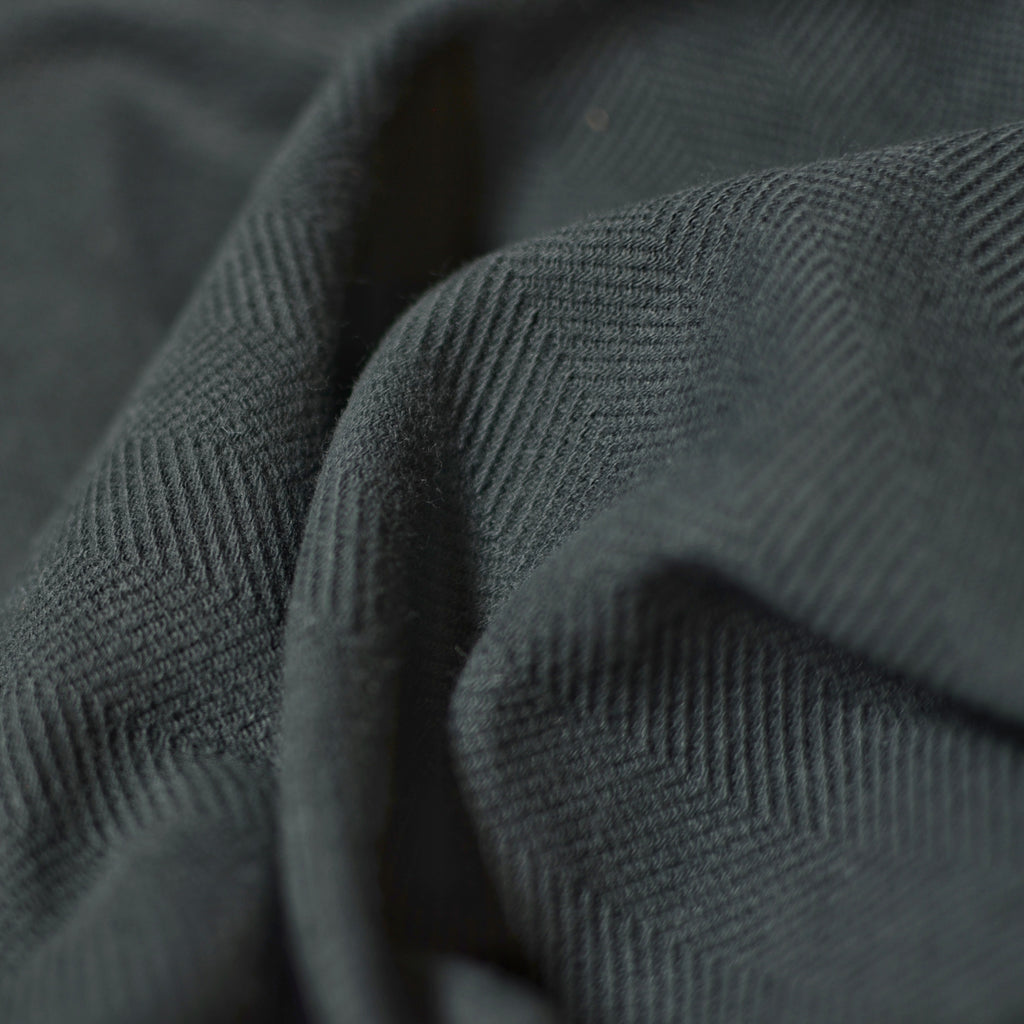Black – Herringbone Sweatshirt Knit – 1/2 yard