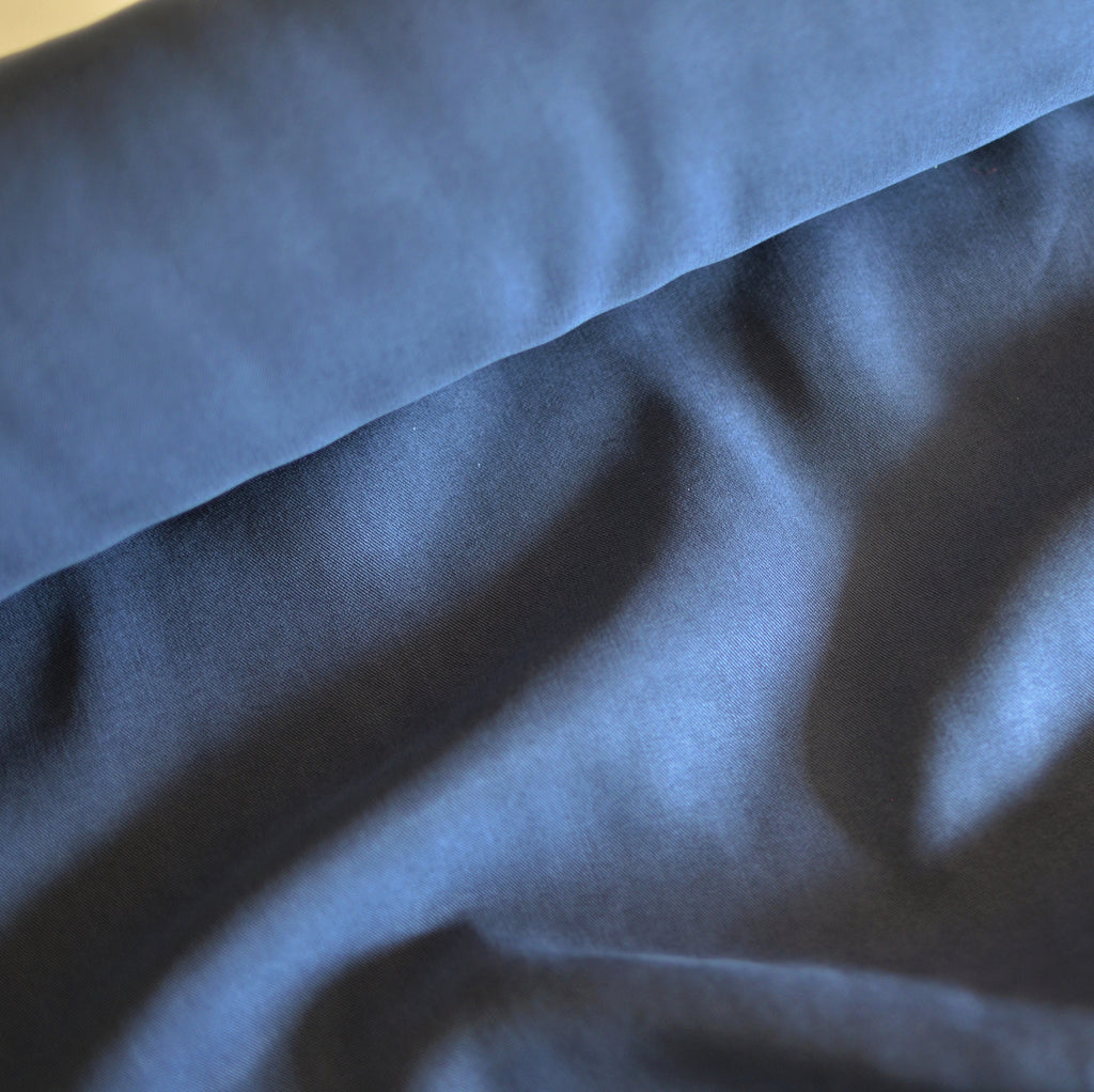 Muted Navy – Safia Lyocell Twill – 1/2 yard