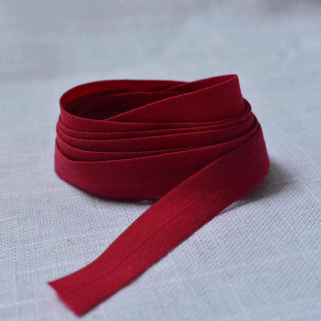"Dark Raspberry – 1/2"" Fold Over Elastic (FOE) – 1 yard"