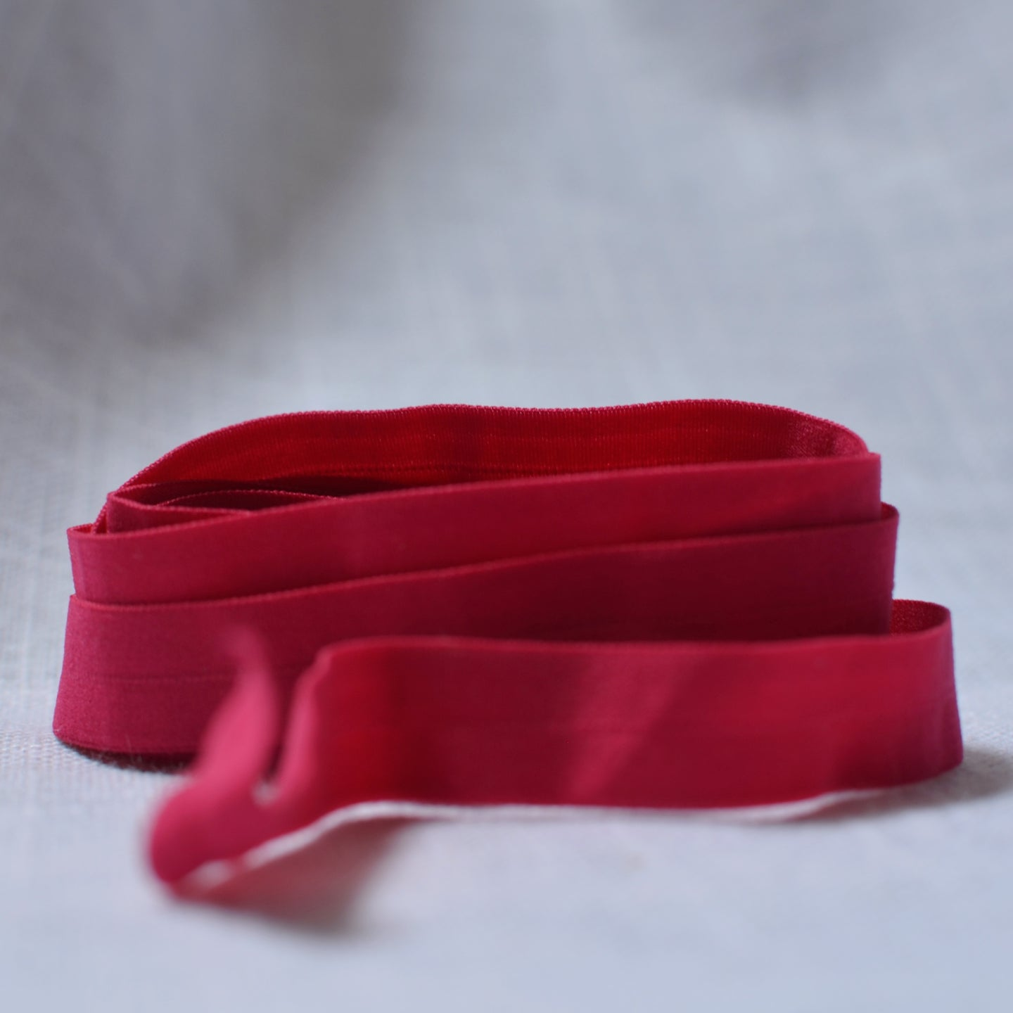 "Fuschia – 1/2"" Fold Over Elastic (FOE) – 1 yard"