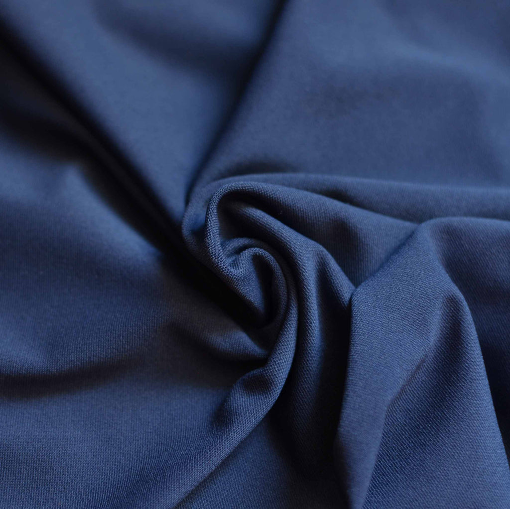 Navy - Recycled Polyester / Spandex Swimsuit Fabric - 1/2 yard