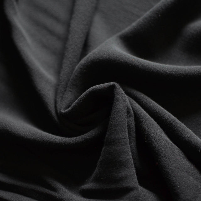 Black - Viscose Twill - 1/2 yard