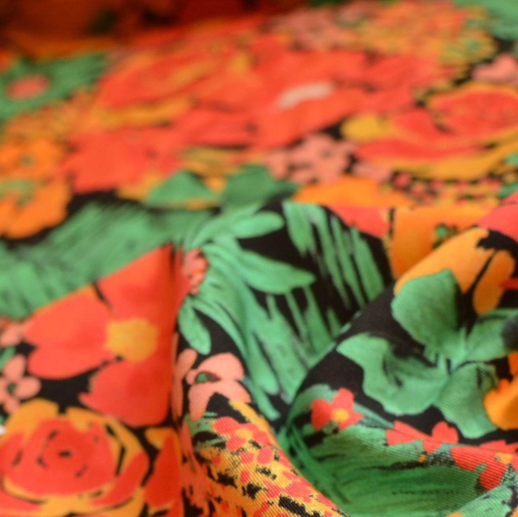 Tropical Florals Ecovero™ Twill – 1/2 yard