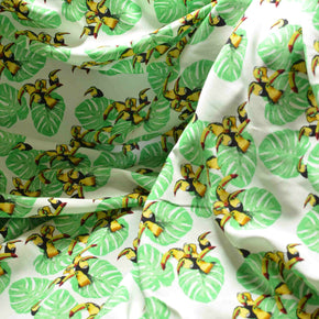 Tropical Toucans Rayon Challis - 1/2 yard