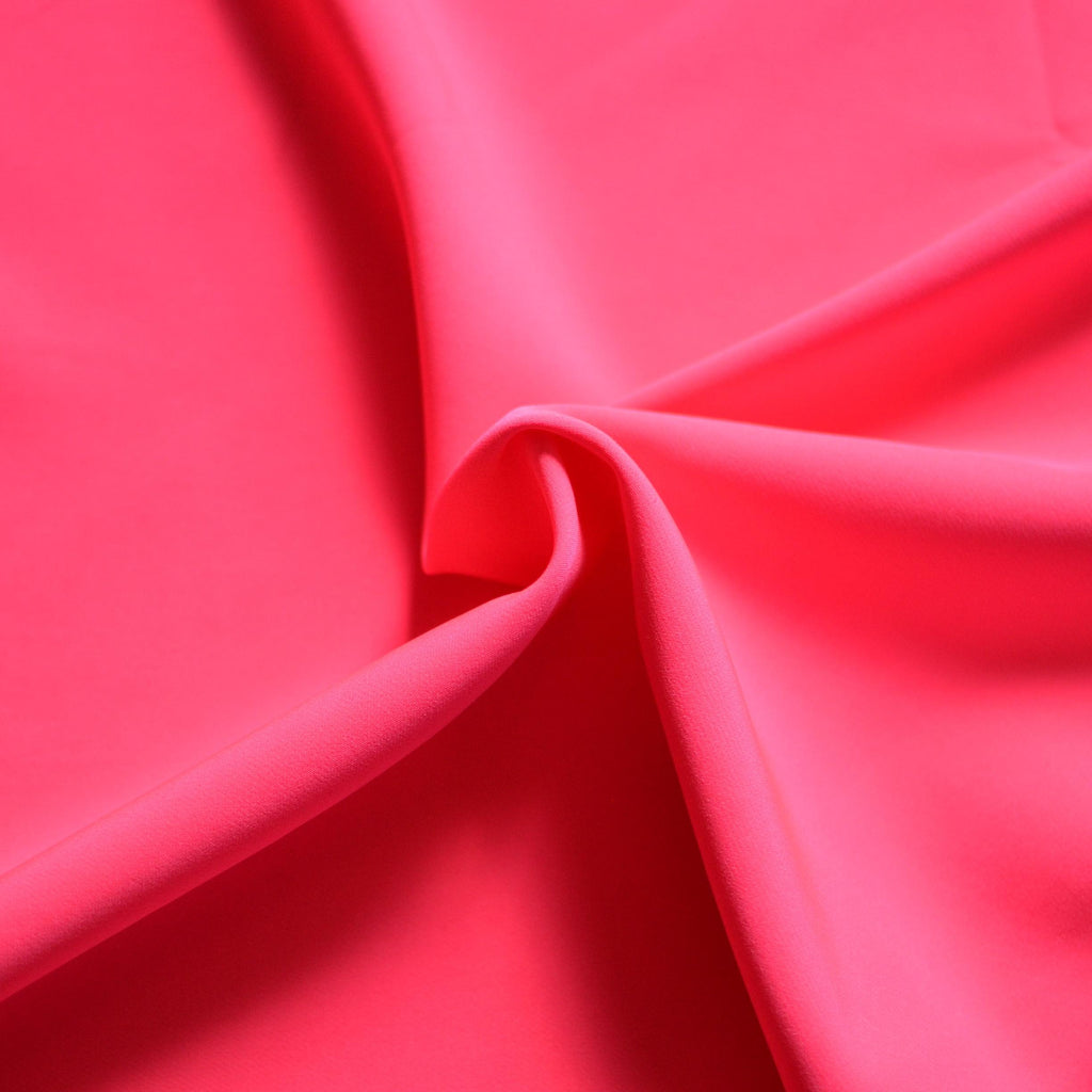 Neon Pink Cady Stretch Suiting – 1/2 yard