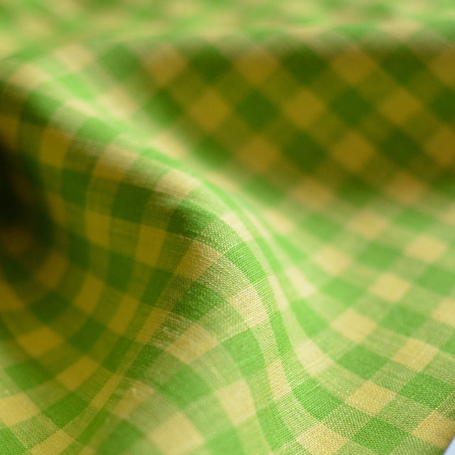 Gingham Fine European Lightweight Linen – 1/2 yard