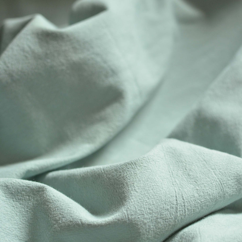 Seafoam Green- Organic Washed Cotton – 1/2 yard