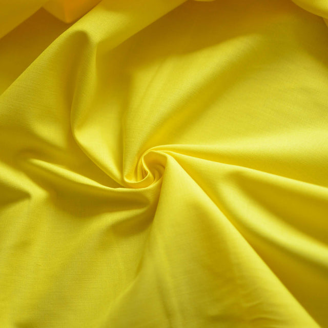 Sunshine Yellow Designer Cotton Broadcloth – 1/2 yard