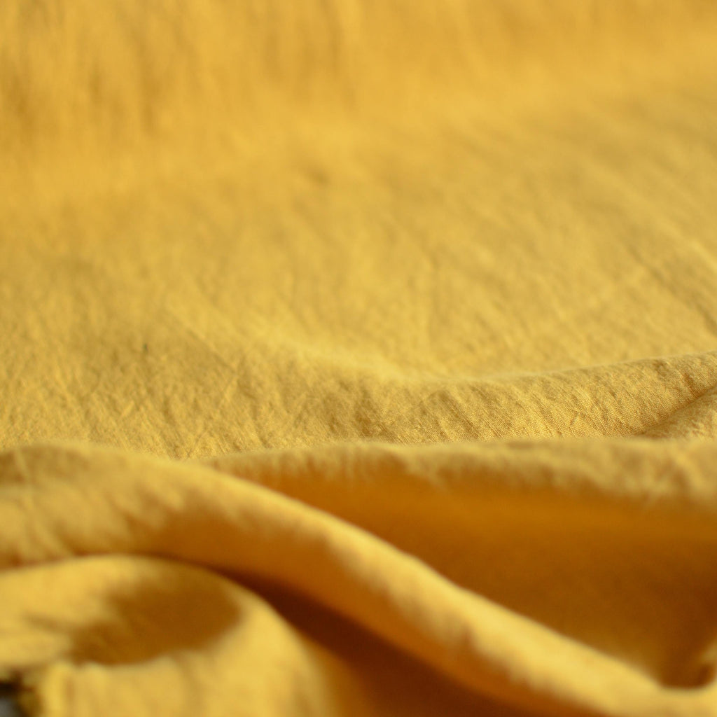 Marigold – Structured Lightweight Washed Linen – 1/2 yard