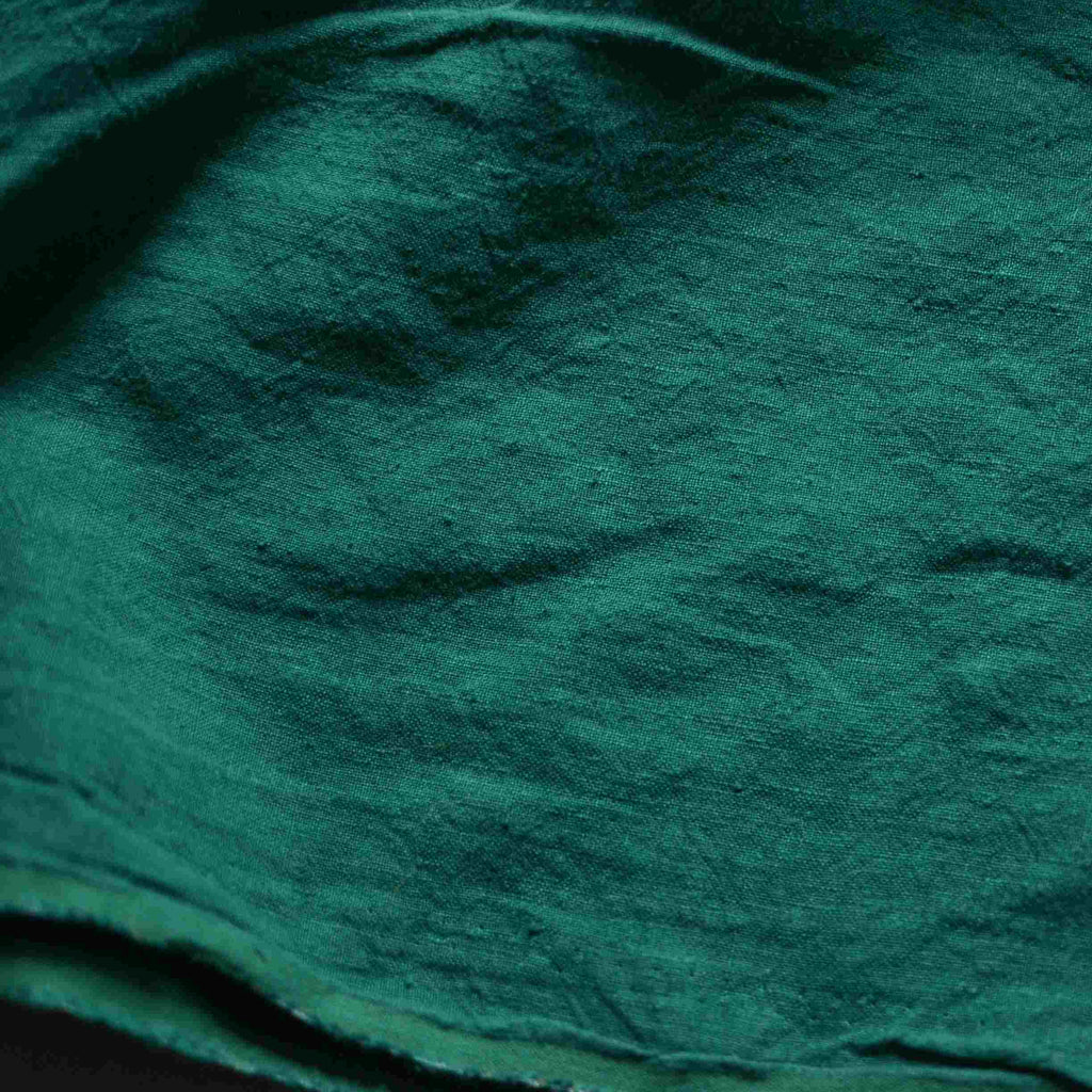 Jade – Structured Lightweight Washed Linen – 1/2 yard