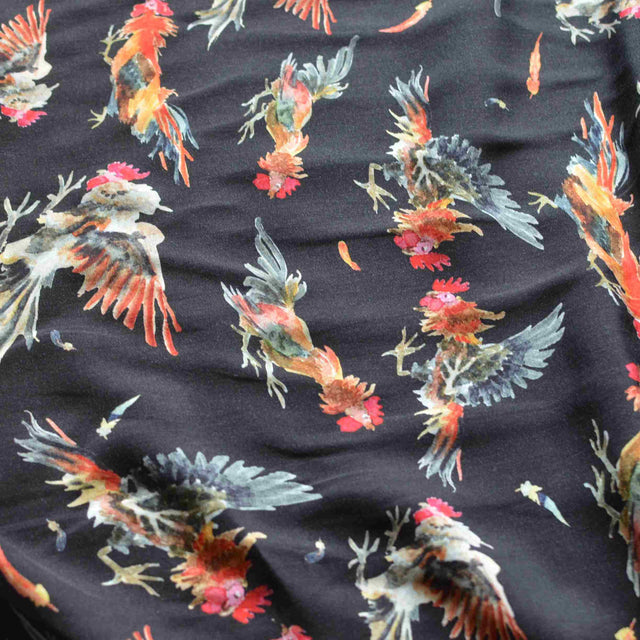 Rooster Run Lyocell Print – 1/2 yard