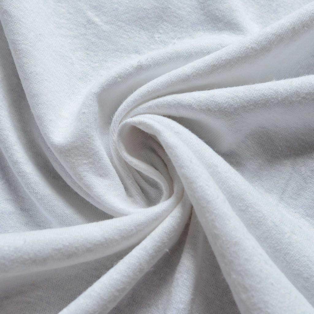 White – Hemp & Organic Cotton Jersey – 1/2 yard
