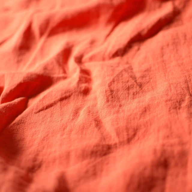 Tangerine – Lightweight Washed Linen – 1/2 yard