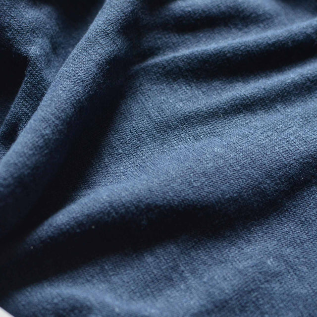 Navy – Hemp & Organic Cotton Jersey – 1/2 yard