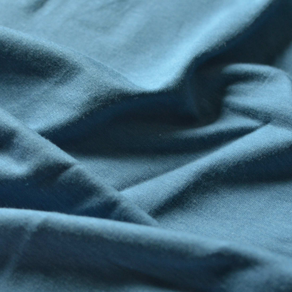 Faded Denim – Tencel™ & Organic Cotton French Terry – 1/2 yard