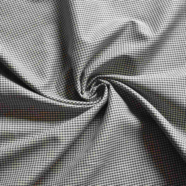 Black & Tan Mini Gingham Shirting – 1/2 yard