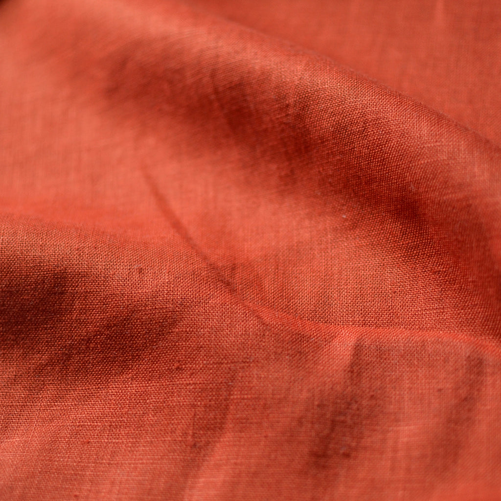 Rust – Aero-Finished Mediumweight Linen – 1/2 yard