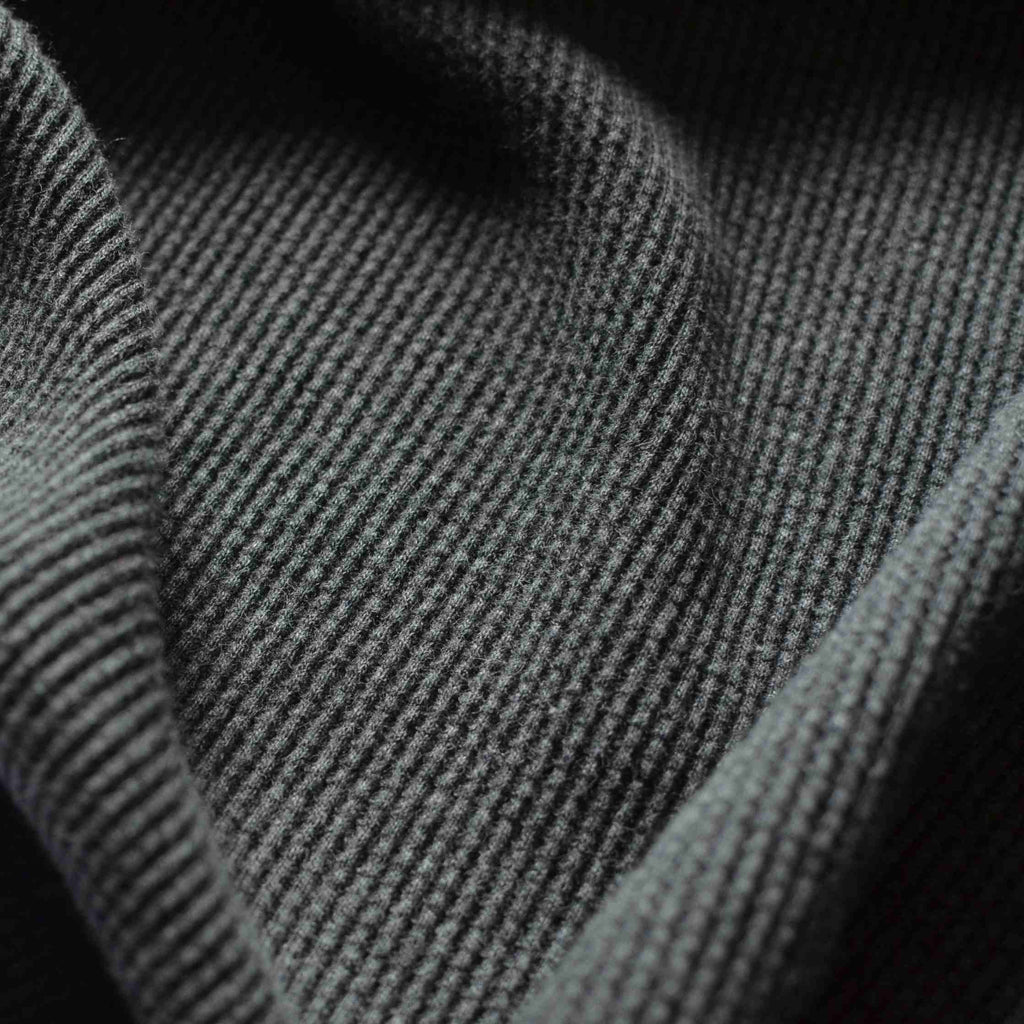 Charcoal –  100% Organic Cotton Waffle Knit – 1/2 yard