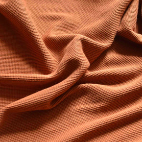 Burnt Butterscotch –  100% Organic Cotton Waffle Knit – 1/2 yard