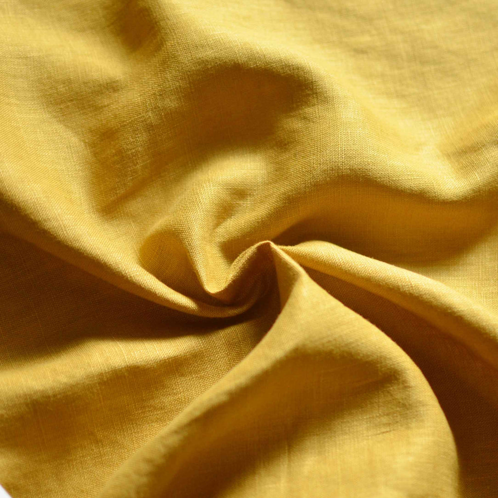Golden Wheat– Aero-Finished Mediumweight Linen – 1/2 yard