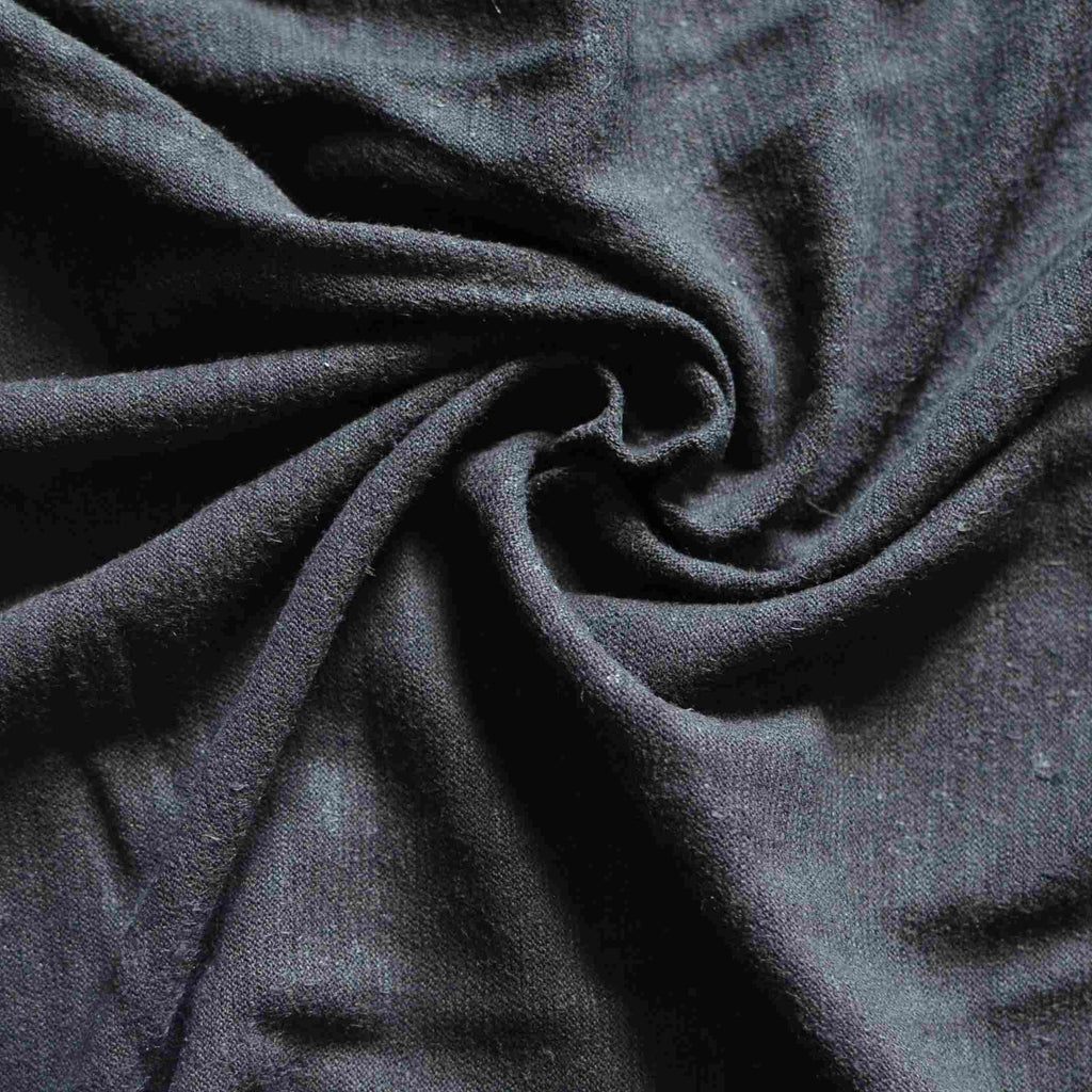 Black – Hemp & Organic Cotton Jersey – 1/2 yard