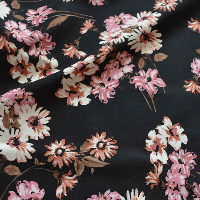 Evening Bouquet Stretch Cotton Poplin– 1/2 yard